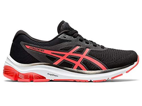ASICS Zapatillas de correr Gel-Pulse 12 para mujer, negro (Negro/Flash Coral), 43.5 EU