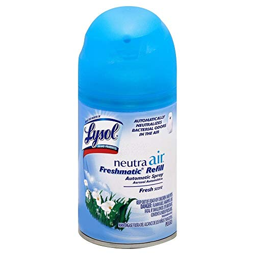 Lysol Neutra Air Freshmatic 6 Refills Automatic Spray, Fresh Scent, (6 X 5.89oz), Air Freshener, Odor Neutralizer