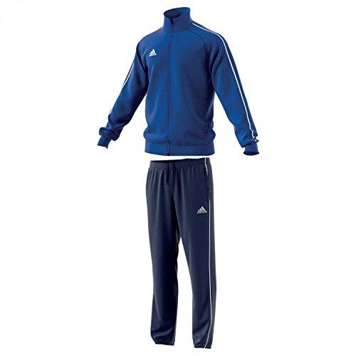 adidas Herren Polyesteranzug Core 18 Bold Blue/White S