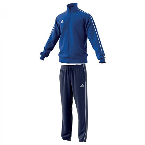 adidas Herren Polyesteranzug Core 18 Bold Blue/White XL