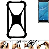 K-S-Trade® Handyhülle Für Fairphone Fairphone 3 Schutz Hülle Silikon Bumper Cover Case Silikoncase TPU Softcase Schutzhülle Smartphone Stoßschutz, Schwarz (1x),