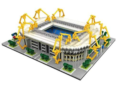 Atomic Building Signal Iduna Park Stadion des BV Borussia Dortmund. Modell zum Zusammenbau mit Nanoblöcken. Mehr als 3800 Stück