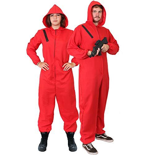 I LOVE FANCY DRESS LTD Disfraz DE LADRÓN DE Bancos DE Disfraces para Adultos - Mono Rojo Disfraz DE CASA DE Papel - Disfraz DE TELEVISIÓN (PEQUEÑO)
