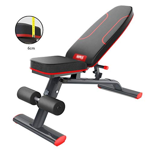 Dumbbell Bench Household Multi-Function Assistant Indoor Fitness Chair Flying Bird Bench Press (Color : Black, Size : 45.6 * 110 * 23~110cm)
