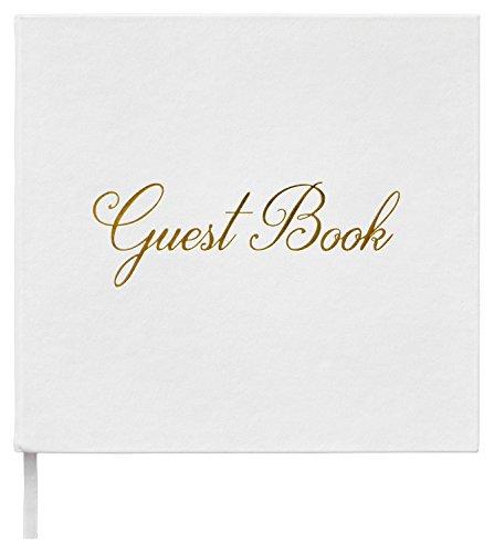 """Leonora - Moderno Libro degli ospiti per matrimonio, Carta da 150 g/m², 140 pagine, album di nozze, look Vintage, con scritta in inglese """"Guest Book"""""""