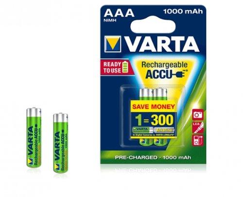 Varta Professional Akku NI-Mh Micro AAA (1,2V, 1000mAh, 2 Stück)