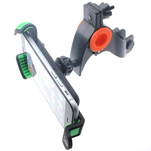 Bicycle Mount Handlebar Holder Bike for Droid MAXX, Cradle Dock Swivel Heavy Duty Compatible with Motorola Droid MAXX