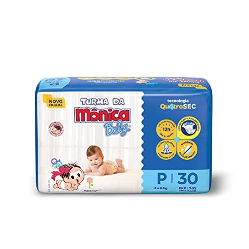 Fralda Turma da Monica Baby Jumbo P 30 Unidades, Turma da Mônica Baby, Azul, P