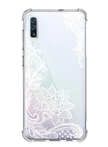 Suhctup Funda Transparente con Dibujos Compatible con Xiaomi Redmi 6A,Ultrafina Suave Silicona TPU Puntilla Patrón Diseño Resistencia Caídas Cuatro Esquinas Reforzado Antigolpes Caso