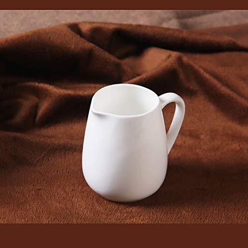 Pure White Melktank Uit Het Bot Porselein, Creatieve Engels Retro Koffie Uit Melktank Plus Melk Cup Keramische Melk Kopje Koffie Set,White,200ml
