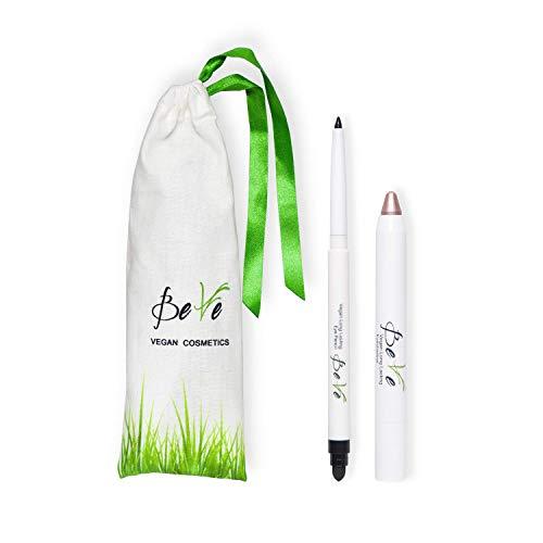 BeVe - Kit de maquillaje vegano de larga duración para los ojos con sombra y lápiz delineador