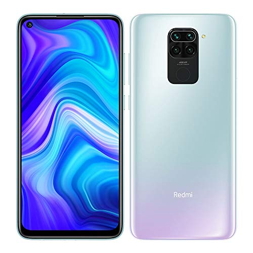 Xiaomi Redmi Note 9 -Smartphone 6.53' FHD+ DotDisplay (4GB RAM, 128GB ROM, Quad Camera , 5020mah Batteria, NFC) 2020 [Versione Italiana] - Colore Polar White