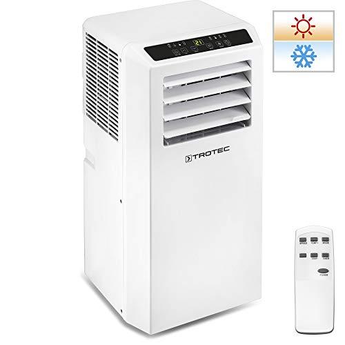 TROTEC Aire Acondicionado Portátil PAC 2010 SH / 4 en 1: Refrigeración, Calefacción, Ventilación y Deshumidificación / Mando a Distancia / Calefacción regulada por Termostato / Hasta 26m²