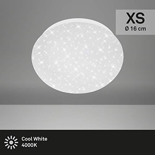 Briloner Leuchten - LED Deckenleuchte, Deckenlampe inkl. Sternendekor, 4,5 Watt, 450 Lumen, 4.000 Kelvin, Weiß, Ø 16cm