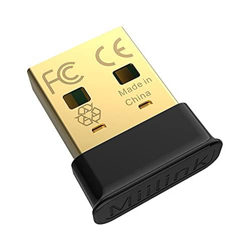 1mii [Nuevo] Adaptador Bluetooth 5.0 USB Dongle Bluetooth para PC Compatible con Windows 10/8.1/8 /7, Receptor Bluetooth USB Ordenador/Portátil para Auriculares, Altavoz...