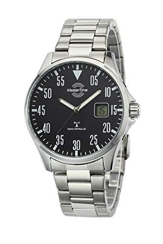 Master Time Funk Quarz Herren Uhr Analog mit digitalem Datum mit Edelstahl Armband MTGA-10687-11M