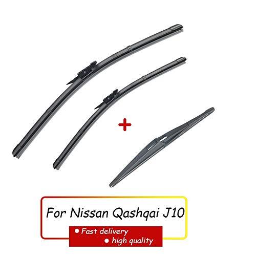 HZHAOWEI Ruitenwisser Voor Achter Ruitenwissers Set, Voor Nissan Qashqai J10 2007-2013 Voorruit Voorruit Voor Achterruit 24