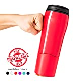 Mighty Mug Double Wall Plastic Travel Mug (Red, 16oz)