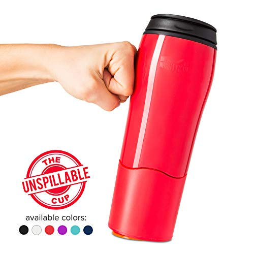 Mighty Mug Double Wall Plastic Travel Mug (Red, 16oz)
