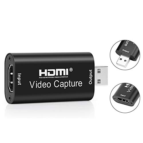 HDMI Audio Video Capture Card 1080P,Kaliwa USB 2.0 Full HD Game Capture Card, Tragbarer Plug & Play Capture Karte, für High Definition-Erfassung, Live-Übertragungen, Unterricht, Streaming, Spiele
