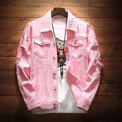 NZJK Heren Denim Jas Trendy Mode Hip Hop Streetwer Ripped Denim Jas Heren Jeans Jas Man Cowboy Jassen 3Xl