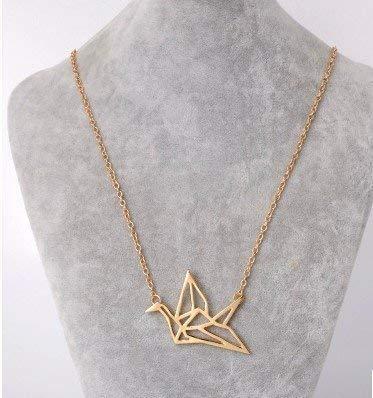 Collar de grulla de papel, collar de origami, delicado collar diario, collar femenino, colgante minimalista, collar de regalo