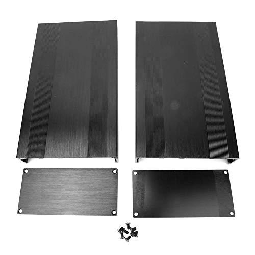 Caredy Aluminium Elektronische Projektbox DIY Schwarz Aluminium Gehäuse Gehäuse Gebürstet Schwarz Oxid Split Typ Aluminium Kühlgehäuse oder Verstärker GPS(250mm)
