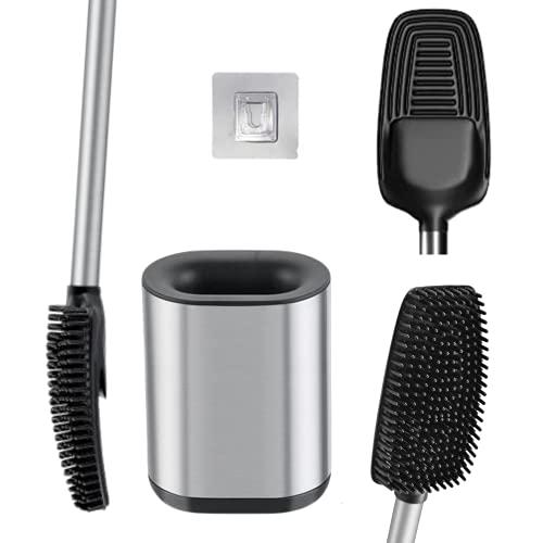 Toilettenbürste Silikon Edelstahl WC Bürste Silikon Klobürste Edelstahl Klobürste Wandmontage Klobürste Silikon Edelstahl Silikon Toilettenbürste Edelstahl - Kleben statt Bohren