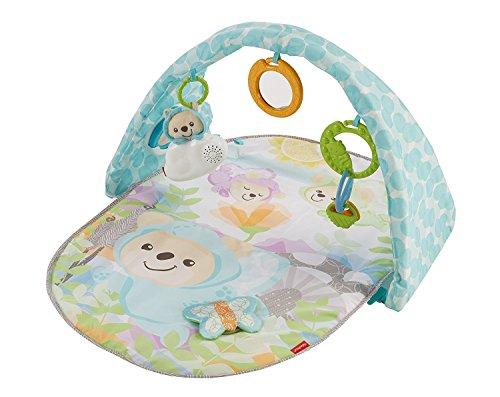 Fisher-Price DYW46 - Traumbärchen Spieldecke Baby Spielbogen und Krabbeldecke mit Musikspielzeug und 5 Rasseln, Spielmatte ab der Geburt
