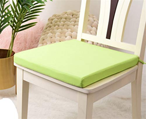 Dining Chair Pad Waterproof Chair Cushion Seat Pads Outdoor Tie On Garden Patio Removable Seat Pad (Color : Green)