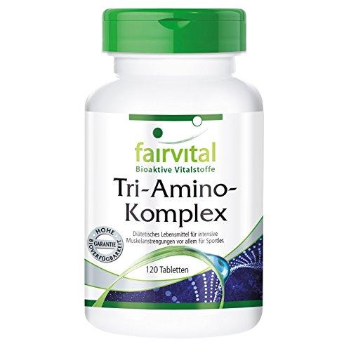 Tri-Amino-Complex - Vegan - HIGH Dosage - 120 Tablets - arginine lysine ornithine - Amino acids