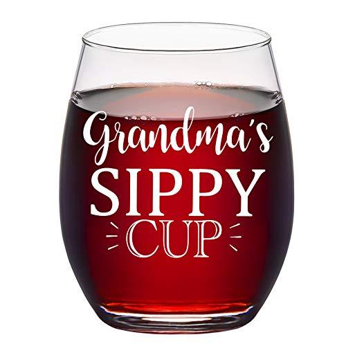Oma Geschenk – Oma Schnabeltasse Weinglas ohne Stiel 425 ml – Weihnachtsgeschenke, Geburtstagsgeschenke, Muttertagsgeschenke für Frauen, Oma, neue Oma