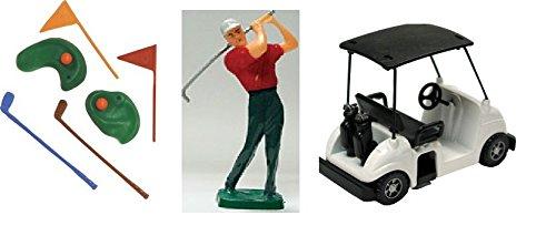 Golf Cake Decorating Kit with Golf Cart