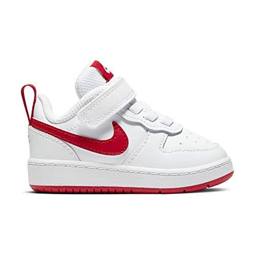 Nike Court Borough Low 2, Zapatillas Baloncesto Unisex bebé, White/University Red