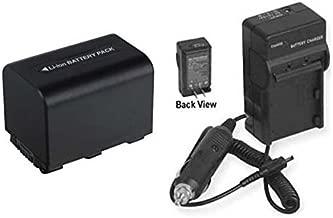 Battery + Charger for Sony DCRSR55E, Sony DCR-SR57E, Sony HDR-XR520, Sony HDR-CX11E, Sony HDRXR200VE