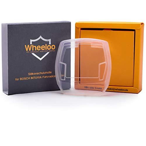 Wheeloo Silikon Schutzhülle E-Bike Display mit USB-Anschluss Bosch Intuvia Bedieneinheit Cover - Durchsichtig & hochwertig - Schutz gegen Kratzer & Wasser EBike Case