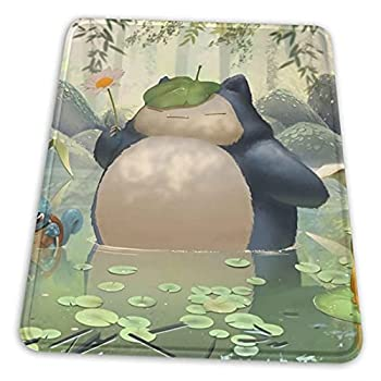 Anime Totoro and Snorlax Mouse Pad Fancy Washable Mouse Mat Mouse Pad Wrist Support for Computers Laptop Office 8.3 X 10.3 in