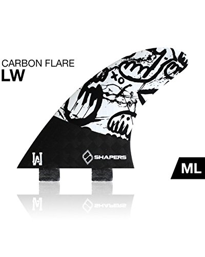 Shapers Carbono Flare Lee Wilson Tabla de Surf Juego de alerones,