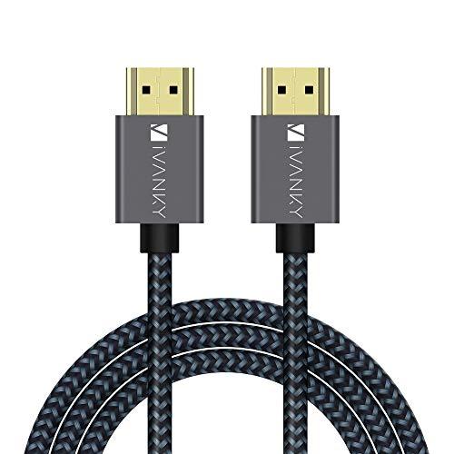 iVANKY HDMI Kabel 4K, HDMI auf HDMI 3M Kabel mit vergoldeten Anschlüssen und Metall-Abschirmung unterstützt UHD 2160p, HD 1080p(4K@60Hz, HDR, HDMI 2.0, 30AWG)