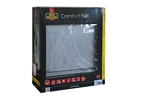 BURG-WÄCHTER, Briefkasten-Set mit integriertem Zeitungsfach, A4 Einwurf-Format, Verzinkter Stahl, Comfort-Set 91300 Si, Silber - 7