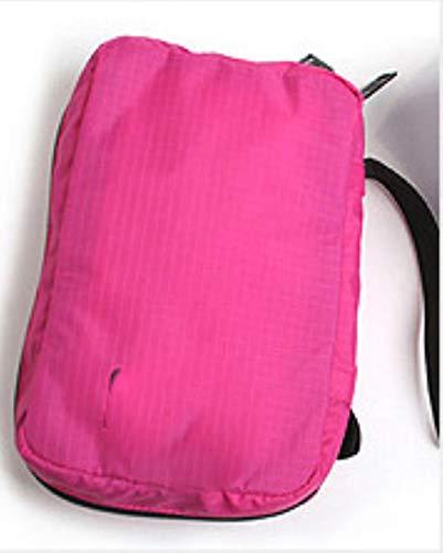 Étanche femmes fille dame portable voyage sous-vêtements soutien-gorge lingerie organisateur sac cosmétique maquillage toilette lavage cas sacs, rose