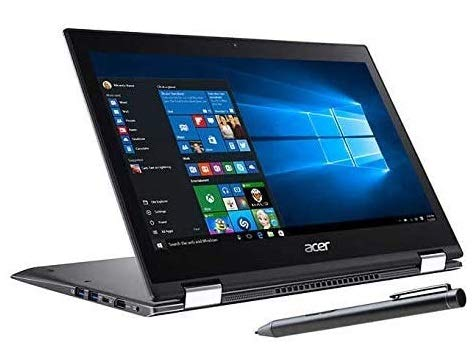 Acer Spin 5 Convertible Laptop, 13.3 inch Full HD IPS Touchscreen (1920 x 1080), Intel Core i7-8565U, 16GB DDR4 RAM, 2TB SSD, Windows 10 Pro, Webcam, Backlit Keyboard, Stylus Pen, 32GB Tela USB Card