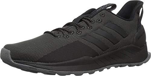 adidas Men's Questar Trail Running Shoe, Black/Grey, 10.5 M US