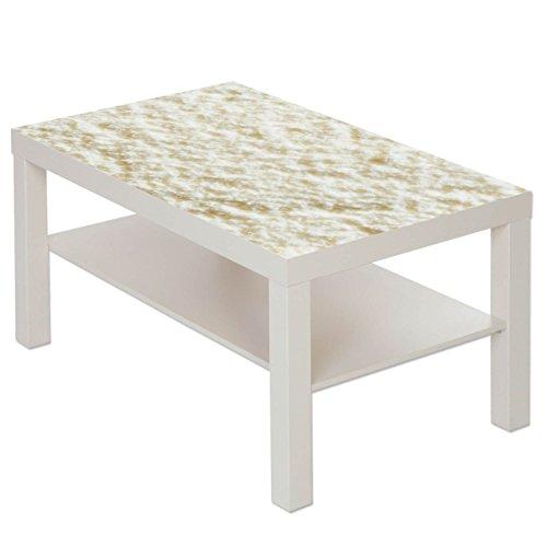B-wie-Bilder.de Table Basse Table avec Motif Image Motif Crème Glacée Vanille