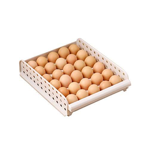 YUMEIGE Kosmetische Aufbewahrungsbox Ei-Aufbewahrungsbox, Küchenschublade Typ Frischhilfe-Eierkasten Aufbewahrungsbox, Schubladen-Design, versiegelt und Frischhilfe, Lüftungslöcher