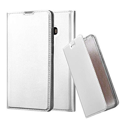Cadorabo Hülle für Xiaomi Mi Mix 2 in Classy Silber - Handyhülle mit Magnetverschluss, Standfunktion & Kartenfach - Hülle Cover Schutzhülle Etui Tasche Book Klapp Style