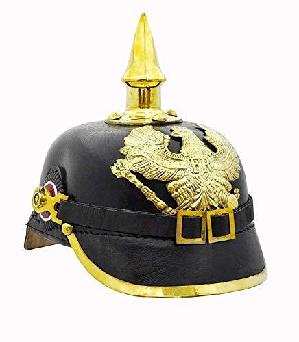 Antique Deutscher Helm Messing Akzente Preußischen Pickelhaube Imperial Helm