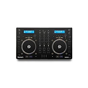 Numark Mixdeck Express | 2-Channel DJ Controller / Standalone Media Player with CD / CD MP3 and USB Playback, Dual Channel Mixer, Multi-Function Jog Wheels and Serato DJ Intro Included