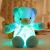 Peluche de 30 cm, Juguetes de Peluche Luminosos, luz Led, Oso de Peluche Brillante, muñeco de Peluche, niños y niñas