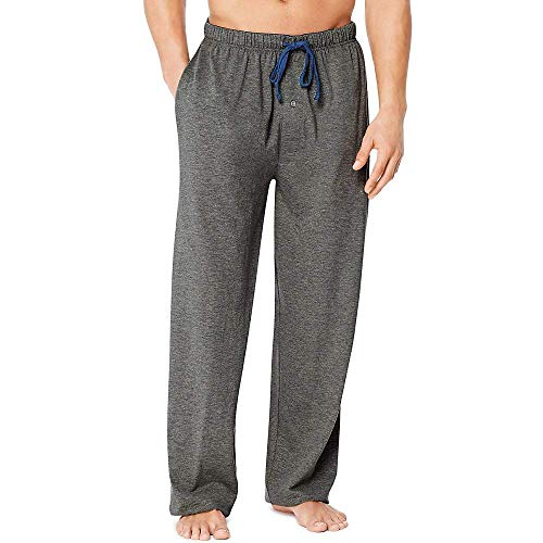 Hanes X-Temp Men`s Jersey Pant with ComfortSoft, Charcoal Heather, Size Medium